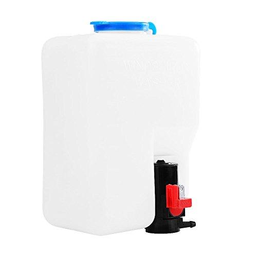lyrlody - Parabrisas Universal para limpiaparabrisas, Botella limpiacristales, Bomba de depósito, Juego de Herramientas para Coche de 12 V