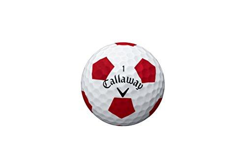 Callaway Golf 2016Chrom Soft Golfbälle, Weiß/truvis Muster