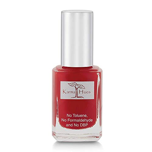 Esmalte de uñas natural orgánico Karma, pintura de uñas no tóxica, vegana y sin crueldad (ROJA Y AÚN)