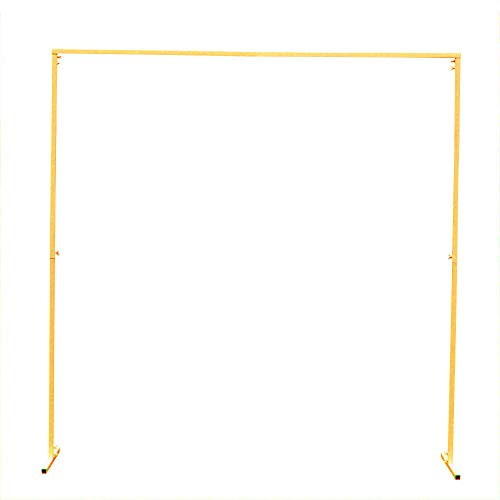 OUKANING 2x2m Schmiedeeisen Hochzeitsbogen Quadrat Balloon Arch Rosen Bogen Für Events Dekoration Gartenzubehör Gold/Weiß (Art : Golden)