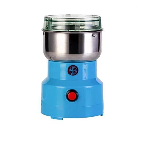Macina fagioli elettrico, macinacaffè multifunzione 150W per alimenti macinacaffè macina spezie per erbe aromatiche / spezie / frutta secca / cereali / macina caffè (blu)