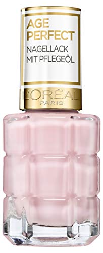 L'Oréal Paris Age Perfect Nagellack mit Pflegeöl in Nr. 220dimanche après-midi, für glatte und glänzende Nägel, in rosé, 13,5 ml