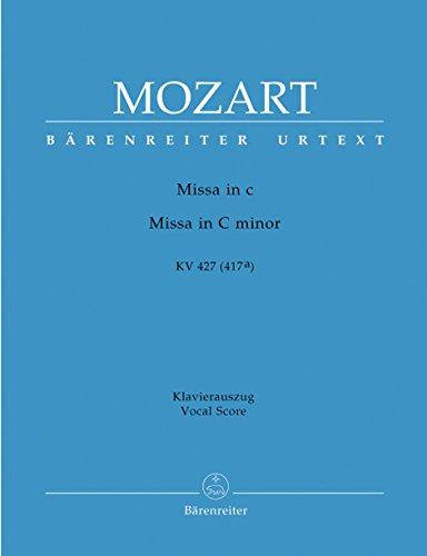 Messe c-Moll KV 427 (417a). Klavierauszug, Urtextausgabe. BÄRENREITER URTEXT