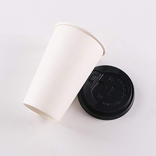 NIUPAN 50st Anti-brandwonden dikke papieren beker wegwerp koffiekopje warme drank verpakking bekers met isolatie kraftpapier hoes en hoezen | Wegwerp bekers