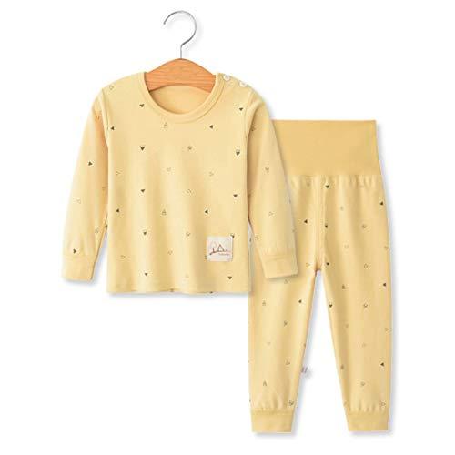 YANWANG 100% algodón Baby Boys Pijamas Set Ropa de Dormir de Manga Larga (6M-5 Años ) (Tag65 (3-4 años), Patrón 10(Cintura Alta))