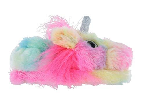 K Collection Girls/Ladies Novelty Soft 3D Rainbow Unicorn Plush Slippers Sizes 9-2 Kids / 3-8 Ladies Mini Me Mother Daughter Matching Gift (7-8 UK (Ladies), Ladies Rainbow Unicorn Slipper)