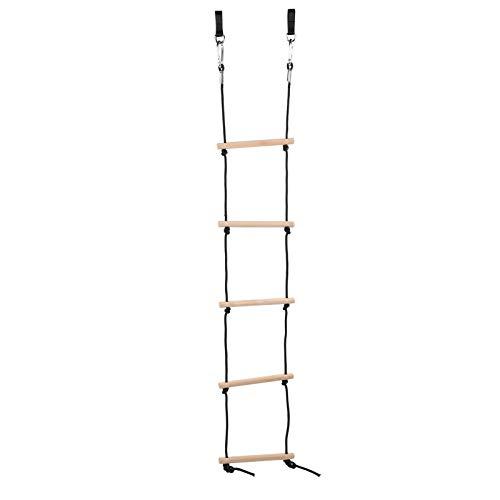 DAUERHAFT Escalera de Cuerda Escalera de Cuerda con mosquetón No tóxico Mejora la Aptitud física Escalera de Cuerda para niños al Aire Libre
