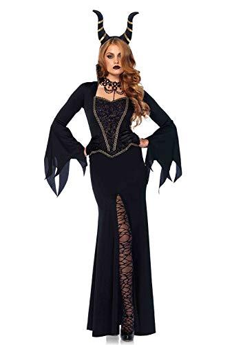 Leg Avenue 85535Noir Evil Enchantress Fancy Dress Costume (Taille M/UK 10–12, 2pièces)