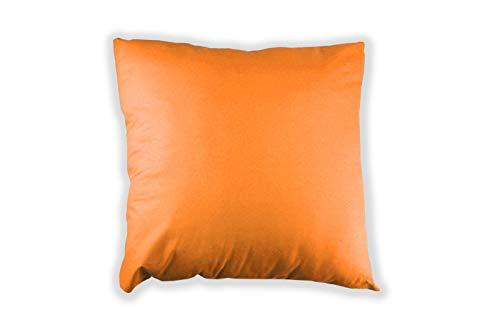 MERINO BETTEN 2er Set Kissenbezug 35 x 35 cm | Kissenhülle für Sofakissen oder Dekokissen | Kissenbezüge mit Reißverschluss (Orange)