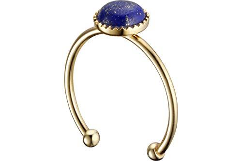 Nilaï Anello Athena, doratura in oro fine, lapislazzuli, blu, regolabile
