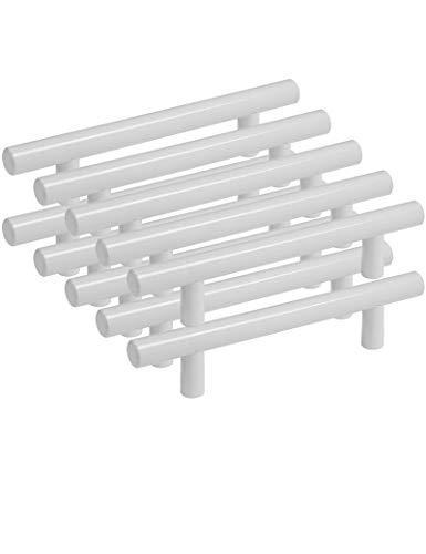Probrico bianco armadio da cucina maniglie pomelli per barra a T in acciaio INOX 9 dimensioni ( 50mm 64mm 76mm 96mm 128mm 160mm 192mm 224mm 256mm )