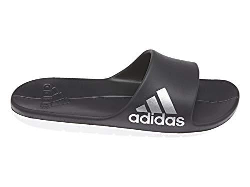 adidas Aqualette Cloudfoam, Zapatos de Playa y Piscina Mujer, Negro (Core Black/Footwear White/Silver Metallic), 39 1/3 EU