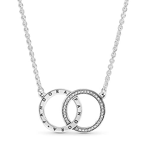 Pandora Collar con colgante Mujer plata - 396235CZ-45