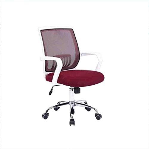 BeingHD Qualitätsbürostuhl, Bürostuhl mit Armlehne Racing Home Office Chair Swivel Chair Lift Net Home Office Computer Stuhl Drehstuhl Lässig (Color : Wine Red)