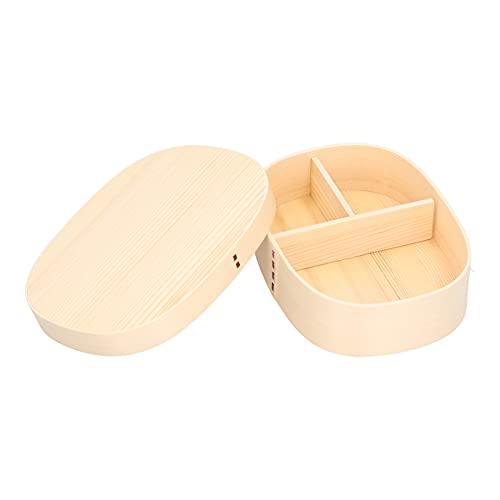 Caja de almacenamiento de alimentos, fiambrera ligera de madera fácil de limpiar para fruta de rollo de arroz de postre
