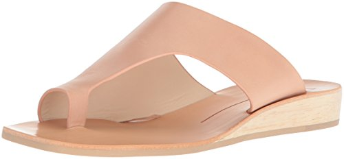 Dolce Vita Women's HAZLE Slide Sandal, Natural Leather, 8 M US