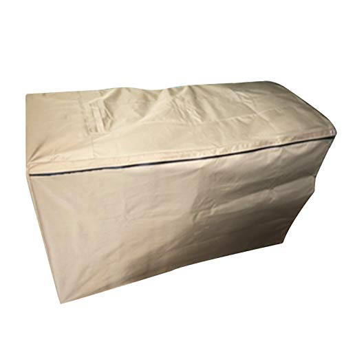 LITINGFC-Garden Furniture Cover,Rectangular Heavy Duty Oxford Fabric Windproof Waterproof Moisture-proof Patio Table Cover,15 Sizes (Color : Khaki, Size : 160x130x90cm)