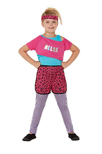 * NEW * Girls 80s Relax Animal Print Costume, Ages 4 to 12 Years
