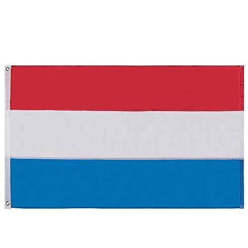Lixure Luxemburg Flagge/Fahne 90x150cm Top Qualität Europa Länder Nationalflaggen - Durable 210D Nylon Draußen/Drinnen Dekoration Flagge MEHRWEG
