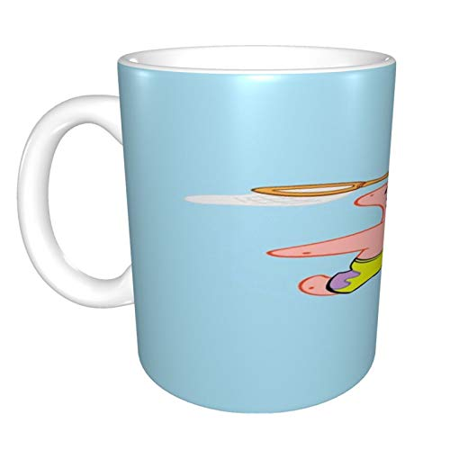 Cute Patrick - Taza de café grande de 325 ml, diseño de...
