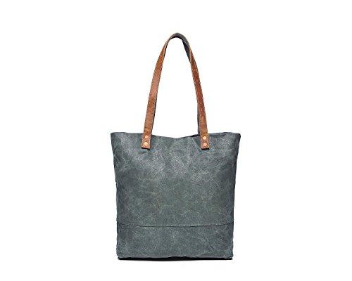 Shoutibao Dames Schouder Messenger Bag Originatieve Olie Wax Canvas Trend Retro Regenjas Pakket