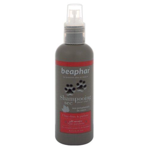Beaphar Premium Shampooing Sec Extraits Naturels de Bambou et d'Eau de Rose pour Chat 200 ml - Lot...