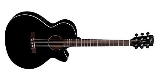 Cort SFX1F Gitarre, Saitenstärke 12-53, Hochglanzschwarz
