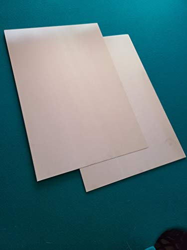 2 Pack .125 1/8 Aluminum Sheet Plate 12'x 12' for Crafts, auto, Home, Project Hobbies, Motor Cycle, Truck and More