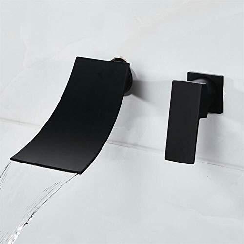 Cuenca del grifo de la moda de baño grifo de cobre negro del fregadero grifo del fregadero inodoro caliente fría sola manija grifo del fregadero cascada