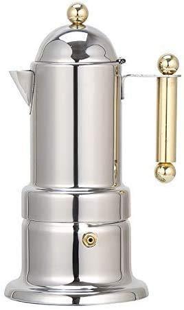 Cafetera, Acero Inoxidable Moka Pot quemadores Cafetera Espresso con válvula de Seguridad