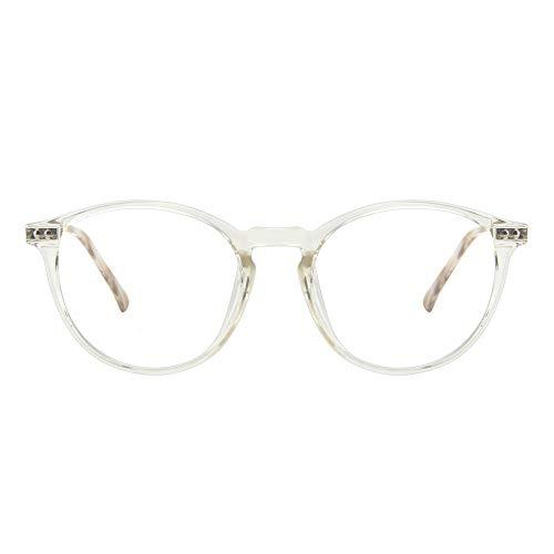 Cyxus Brille mit Blaulichtfilter Ohne Sehstärke,TR90 Super Leicht, Anti Blaulicht, UV 400, Computer Brille Blue Light Glasses(8010 Klare)