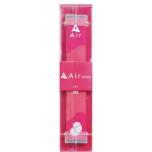 持ち運びシーシャ・電子タバコ 【Air mini ライチ味】 1本 ニコチンなし 300回使用可能 使い捨て ベイプ Vape