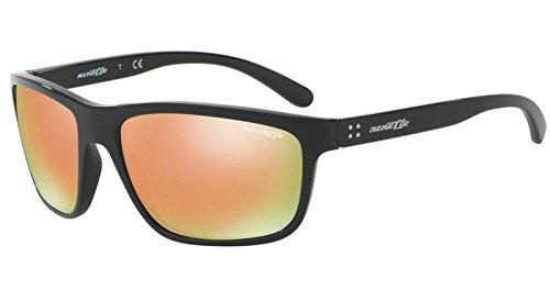Arnette Herren 0AN4234 41/4Z 61 Sonnenbrille, Schwarz (Black/Greymirrorrosegold)
