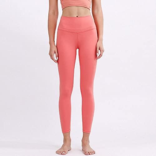 Bossoshe Polainas de Yoga Fitness,Yoga-Pantalones de Yoga de Abdomen de Alta Cintura, Tocando Pantalones de Aptitud Suave-Rojo_SG