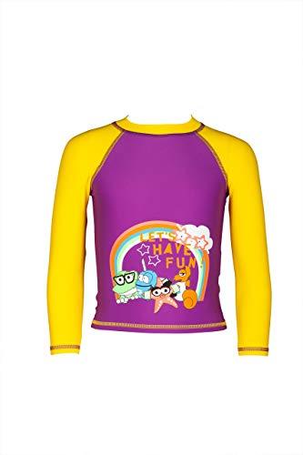 ARENA Mädchen Sonnenschutz Langarm Shirt AWT Uv, provenza-Yellow Star, 110