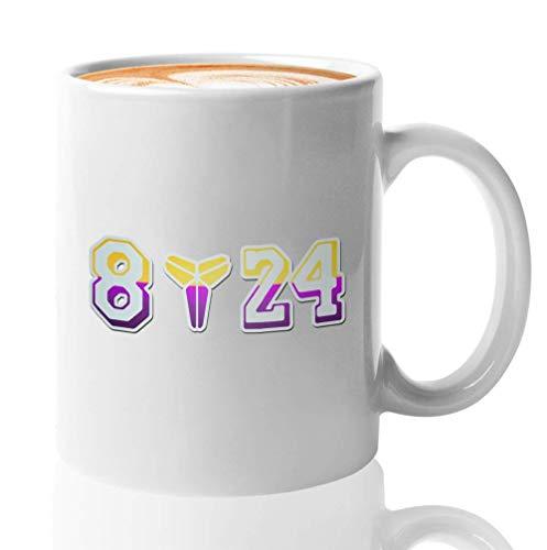 Taza de café de los Angeles Bry-Ant Kobes de los Angeles - 8 24 - Los Angeles Bry-Ant Kobes - Gran jugador de baloncesto Cool Sports Coaching Fan Inspirar N-Ba MVP Legends Memories R-I-P