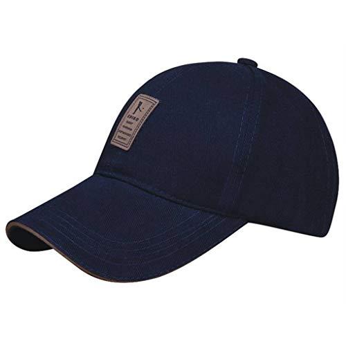 Bobury Unisex Baseballkappe, verstellbar, einfarbig, atmungsaktiv, Baumwolle/Segeltuch