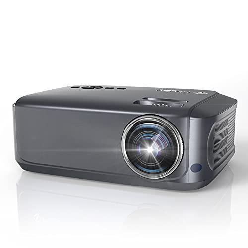 Beamer, 7800 Lumen Native 1080P Full HD Beamer LCD Video Beamer 78.000 Stunden mit max 230' Display, Verbindung mit HDMI VGA USB AV Gerät