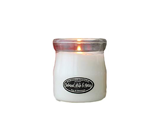 Milkhouse Creamery Soy Beeswax Scented Candle - 5 Oz. Creamer Bottle (5 oz Oatmeal Milk Honey)