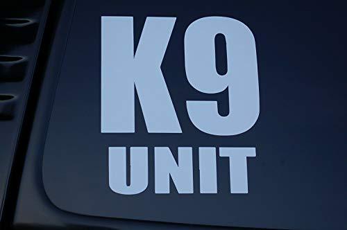 Five Star Graphics K9 Unit Police Dog Vinyl Sticker Decal K-9 Choose Size & Color!! Law Enforcement (V173) (6' X 5', White)