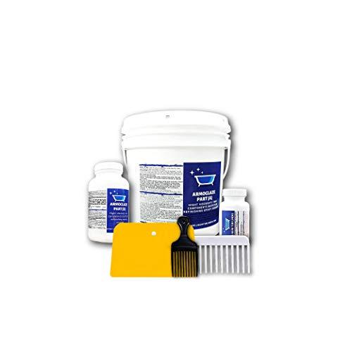Armoglaze - Enamel Epoxy Bath Refinishing Kit - Odorless / Extremely Durable - Easy Pour-on Application - Color : White - For: Bathtubs