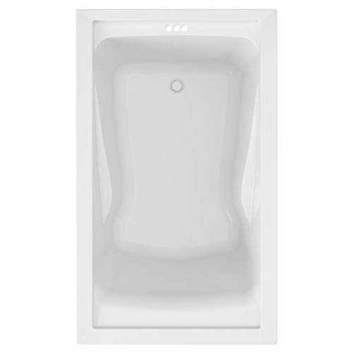 American Standard 2771V002.020 Evolution 5 ft. x 36 in. Deep Soaking Tub with Reversible Drain,...