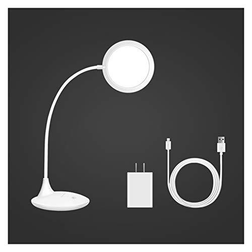 Lámpara de escritorio para sala de oficina Funcionamiento de espectro completo / enchufe de doble propósito LED de escritorio Lámpara de mesa táctil de control táctil regulable Lámpara de estudio flex