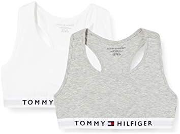 Tommy Hilfiger 2p Bralette Sujetador, Gris, 8-9 años (Talla del Fabricante:) para Niñas