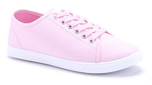 Schuhtempel24 Damen Schuhe Low Sneaker rosa flach