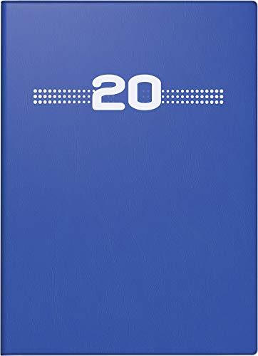 rido/idé 701320205 Taschenkalender perfect/Technik I (2 Seiten = 1 Woche, 100 x 140 mm, Kunststoff-Einband, Kalendarium 2020) blau