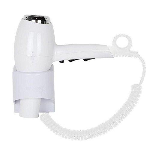Wandmontierter Fön | Badezimmer Haartrockner | 1500 Watt | Weiß | IP24 | Umweltfreundlich