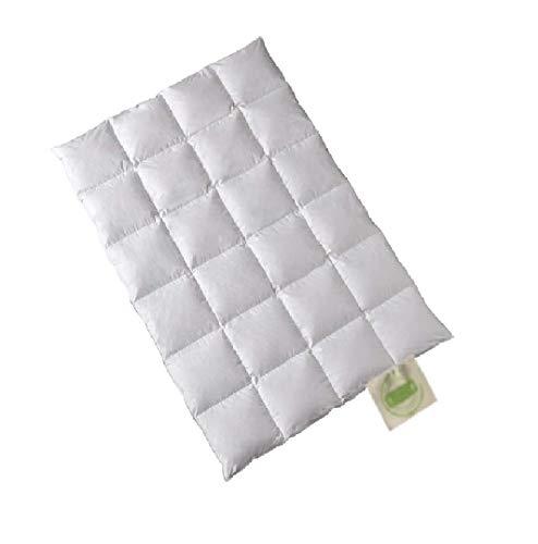 Öko Daune Winterdecke 100% Daune recycelt: nachhaltig ökologisch wertvoll Kassettendecke vom Betten Fachgeschäft (240x220 cm) Klimaneutral Produkt
