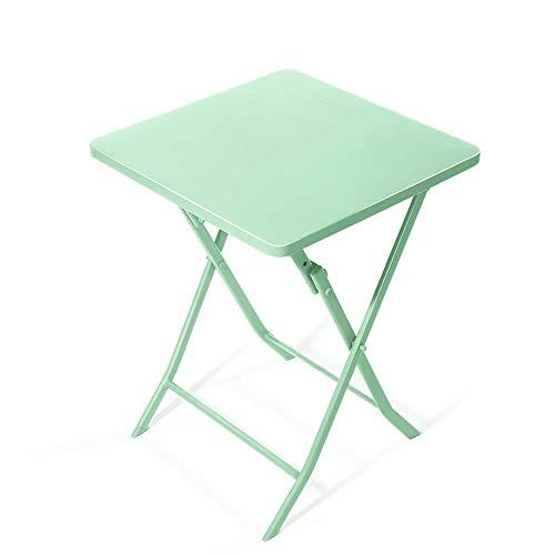 DNSJB Tisch Eisentisch klein zusammenklappbar klein quadratisch Tisch einfach Kaffee rund Tisch Balkon Klapptisch...
