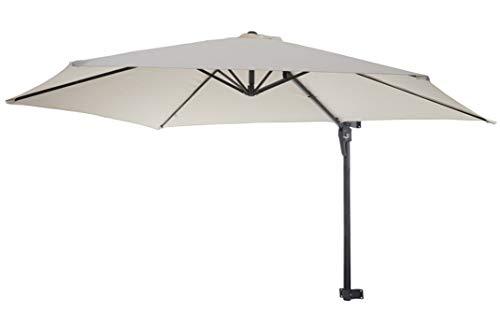 PEGANE Parasol de 100% en Polyester 180g / m² Coloris crème - Dim : L 300 x P 280 cm